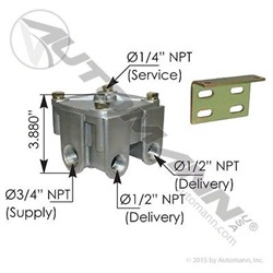 R12H Type Relay Valve 4PSI